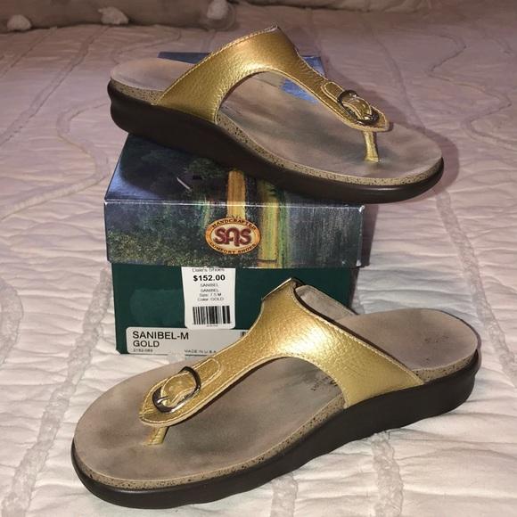 21ee2ecccd4d22 SAS Sanibel Gold Sandals. M 5b100fd69d20f07138718e2b